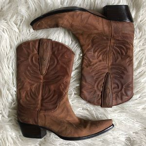 Guess by Marciano Punk Leather Cowboy Boots EUC
